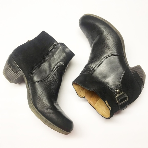 PIKOLINOS Shoes - Pikolinos 39 Black Leather Heeled Ankle Booties